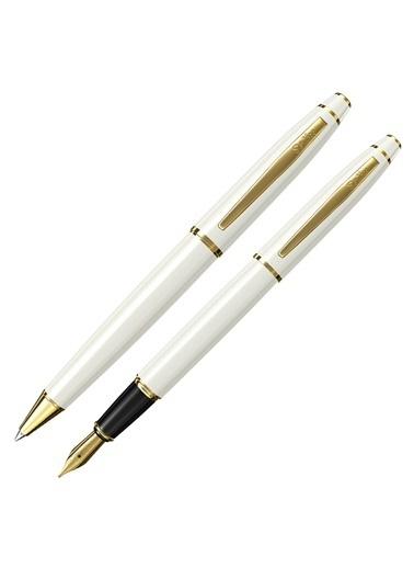 Scrikss 35 Dolma&Tükenmez Kalem Seti Beyaz Altın Beyaz
